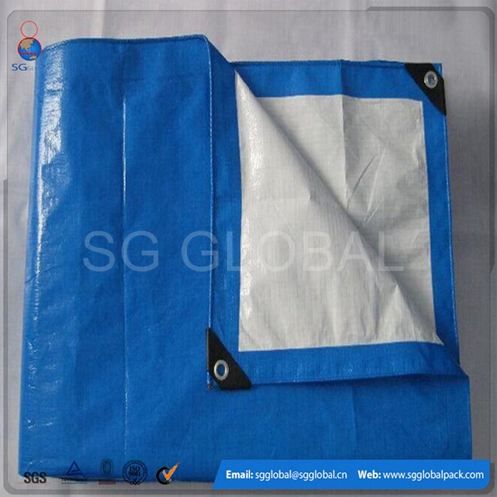 Hot Sale Waterproof PE Coated Tarps with Eyelets