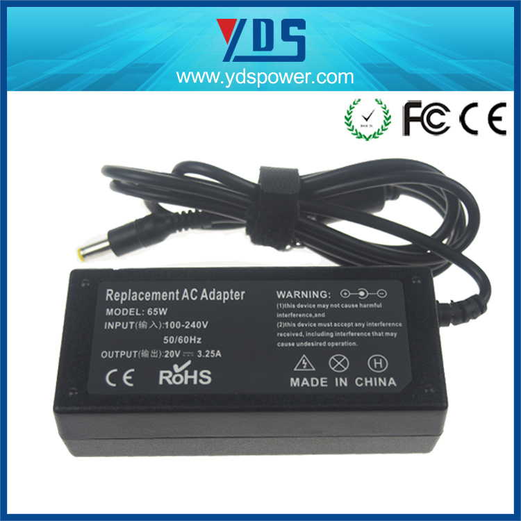 20V 3.25A 5.5*2.5 Plug in Connection AC DC Laptop Adapter