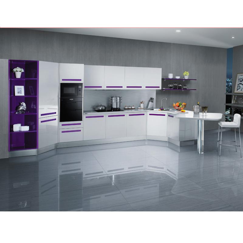 Purple Kitchen Cabinet Furniture Equipment Wholesale (OP12 X143