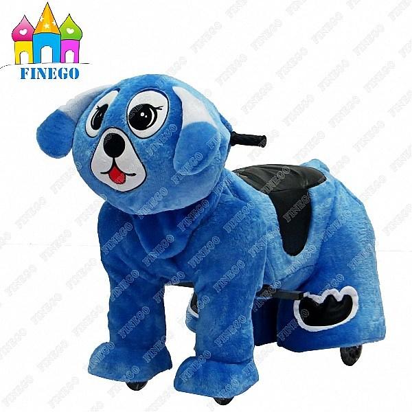 Plush Dog Fun Kiddie Rides Zippy Animal Walking Car for Shopping Center