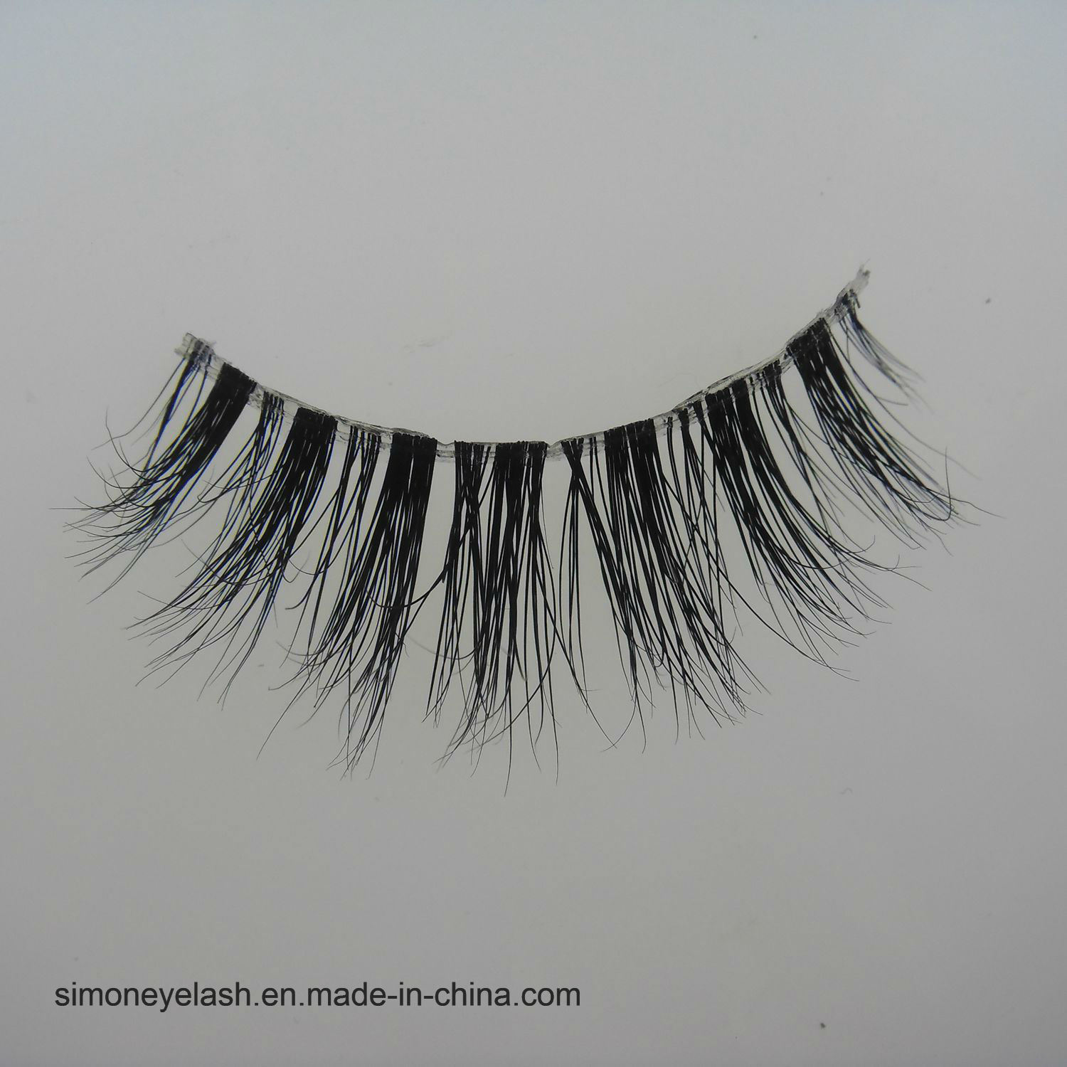 Plastic Terrier Natural Mink Hair Full Strip 3D Eyelashes
