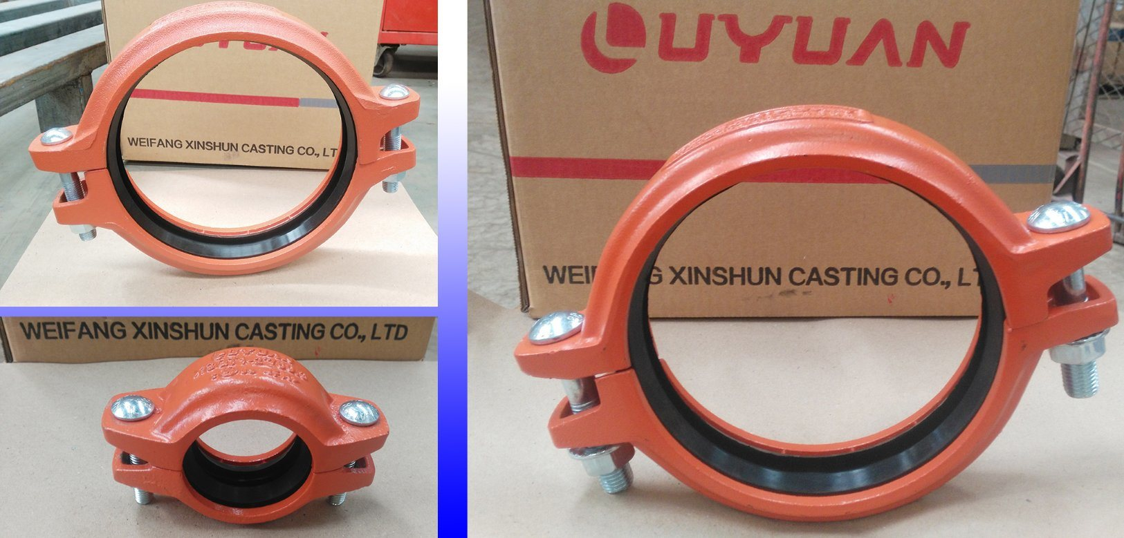 Grooved Coupling and Fittings for Fire Sprinkler System with FM UL