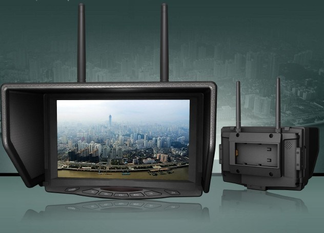 "7"" Fpv Monitor with Dual 5.8GHz Bands Wireless Receivers"