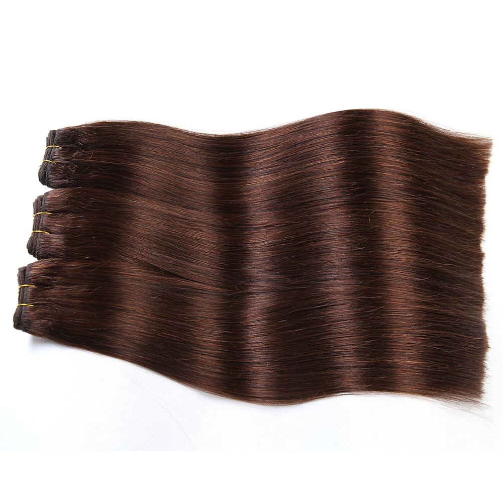 Machine Weft Double Drawn Quality 100% Virgin Straight Human Hair