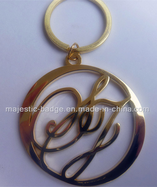 Customized Plating Gold Key Chain (Hz 1001 K026)