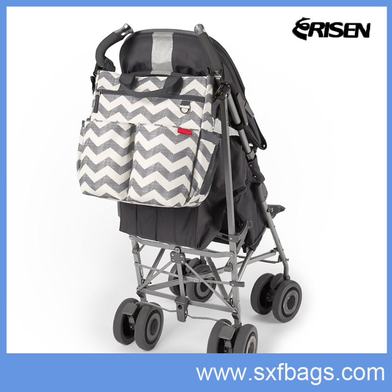 Following Trend Diaper Mummy Tote Bag with Functional Pocket