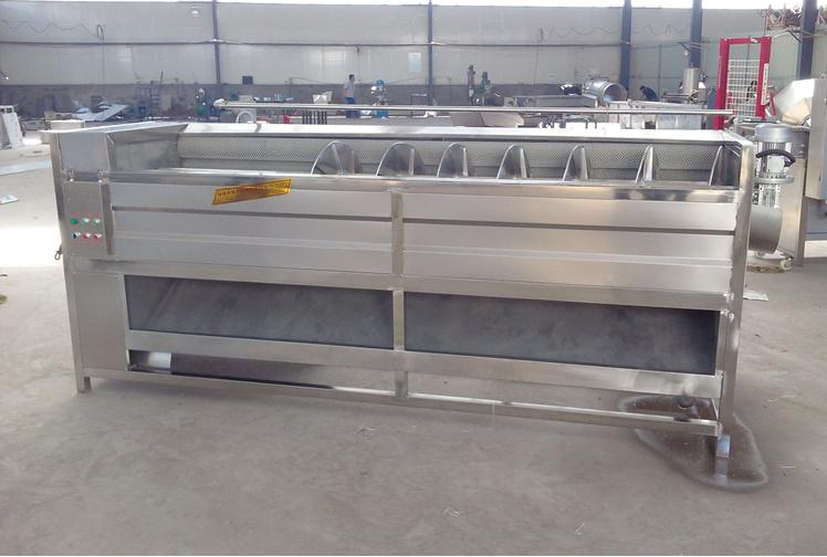 High Efficiency and High Capacity Brush Type Potato Washing and Peeling Machine