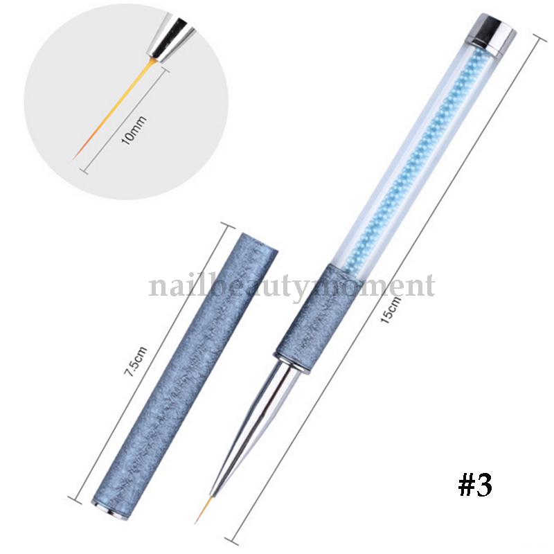 Nail Art Gel Drawing Liner Brush Pen Pearls Beads Manicure Tools (B051)