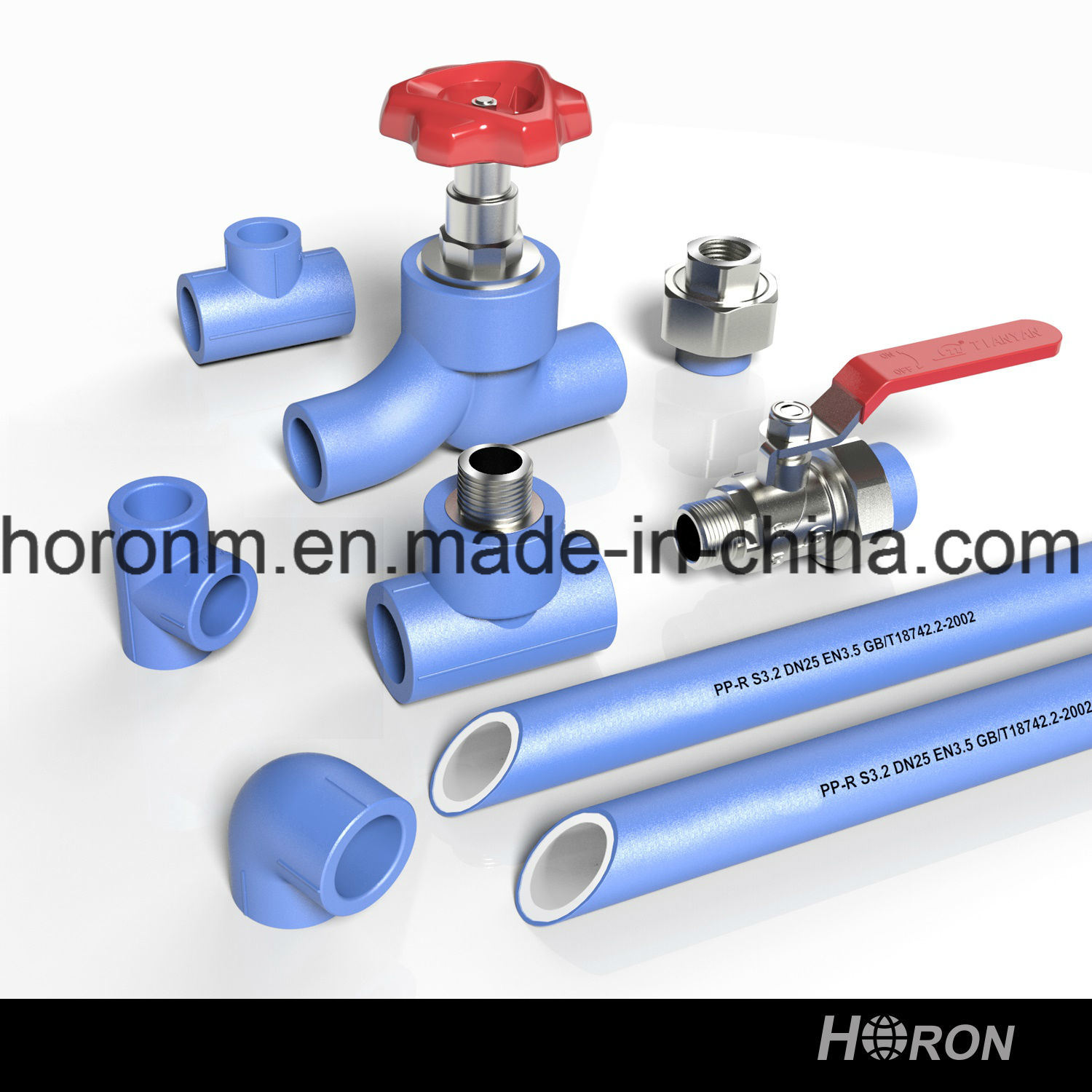 Water Pipe-PPR Fitting-PPR Copper Thread Coupling-Blue PPR Famale Thread Coupling-Thread Coupling-Famale Coupling