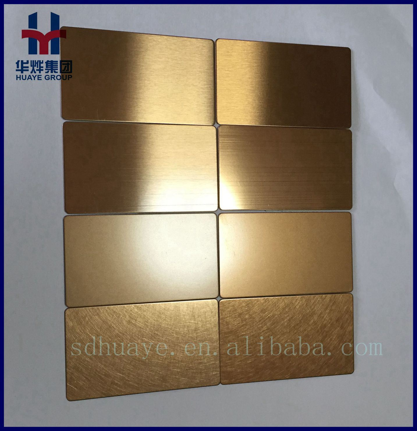 AISI 201 430 304 316 Stainless Steel Sheet Hairline Brass Color Decorative Sheet 4X8 Size Price