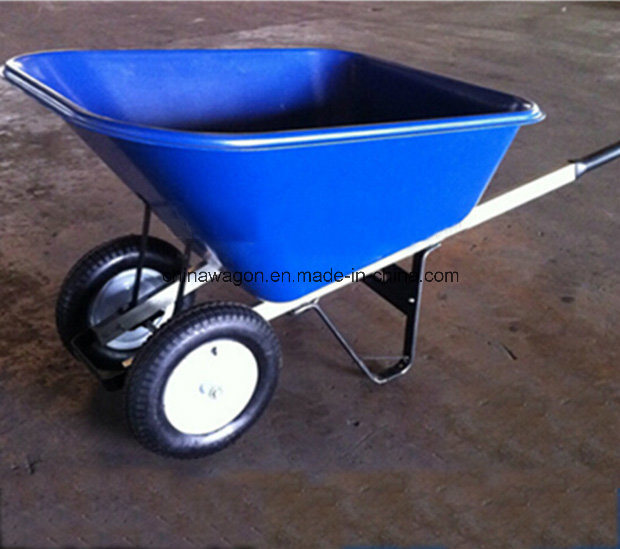 Heavy Duty Double Wheels Wheelbarrow for American Market