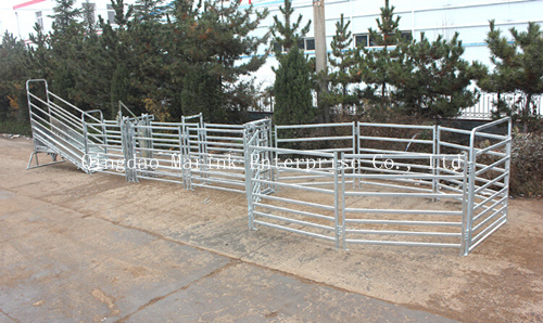 2.1m 6 Oval Rails 70*40/50*50mm Cattle Yard Panels