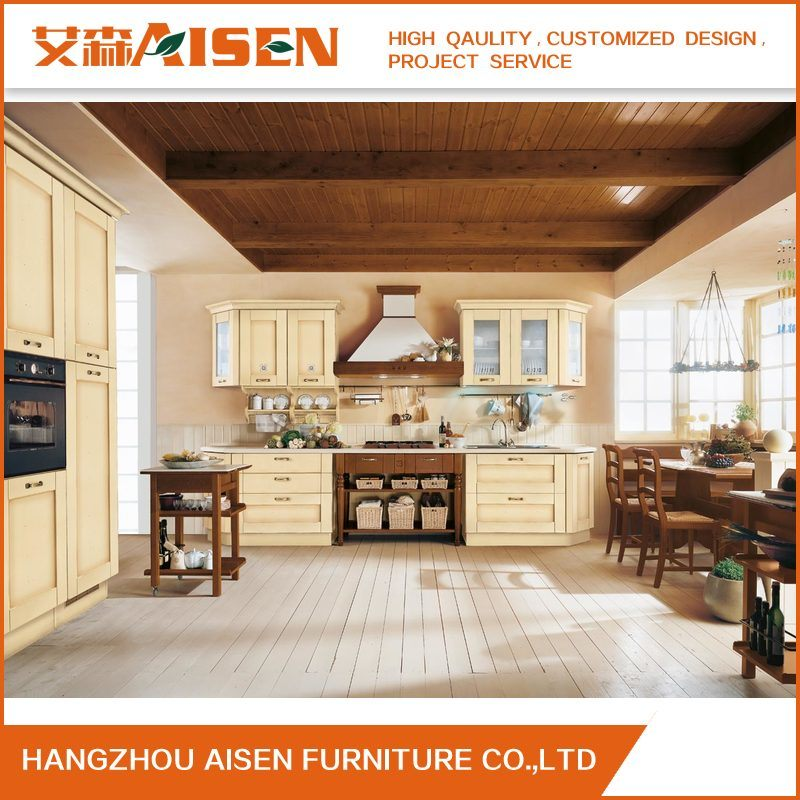 Classic Style Kitchen Furniture Solid Wood Kitchen Cabinets