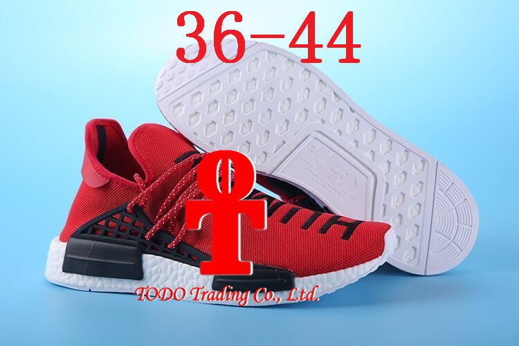 "Double Box Pharrell′s Nmd ""Human Race"" Runner Shoes Yellow Hu Man Special Being Nmd Size 13 Nmds Boost Running Shoes Orange Black Red"