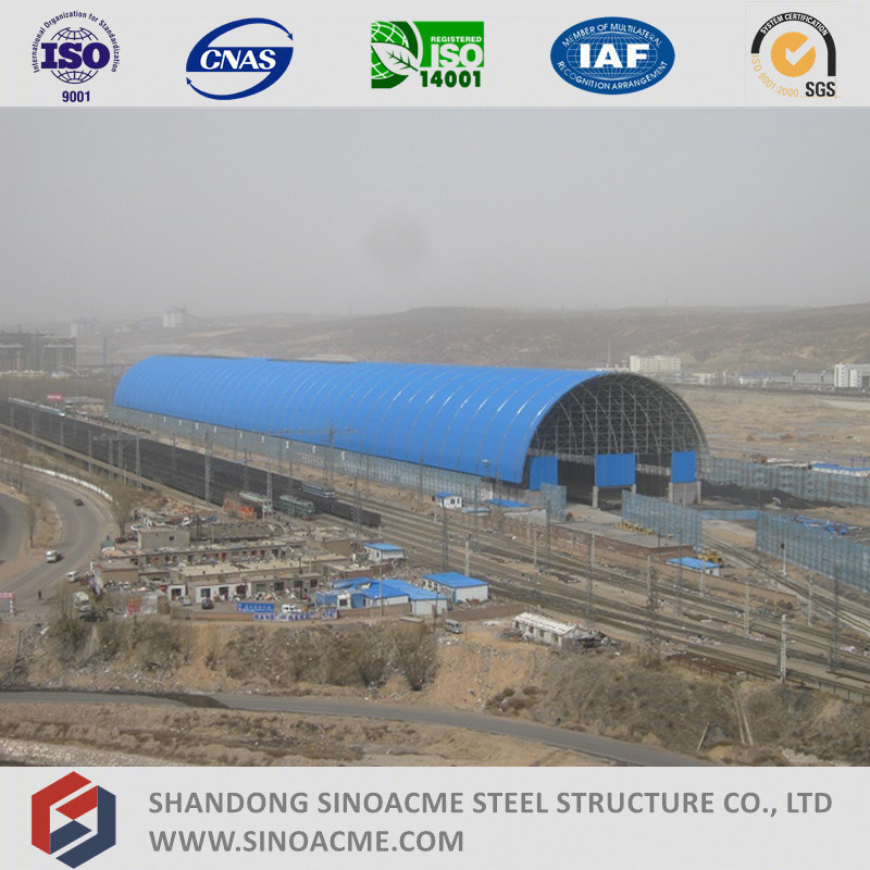 Prefabricated Steel Space Frame Structure Train Parking Shed