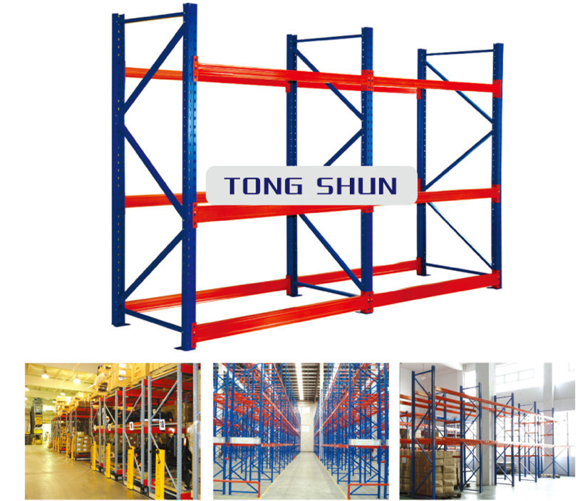 Heavy Type Supermarket Storage Rack/Shelf with Sheet Metal Layer