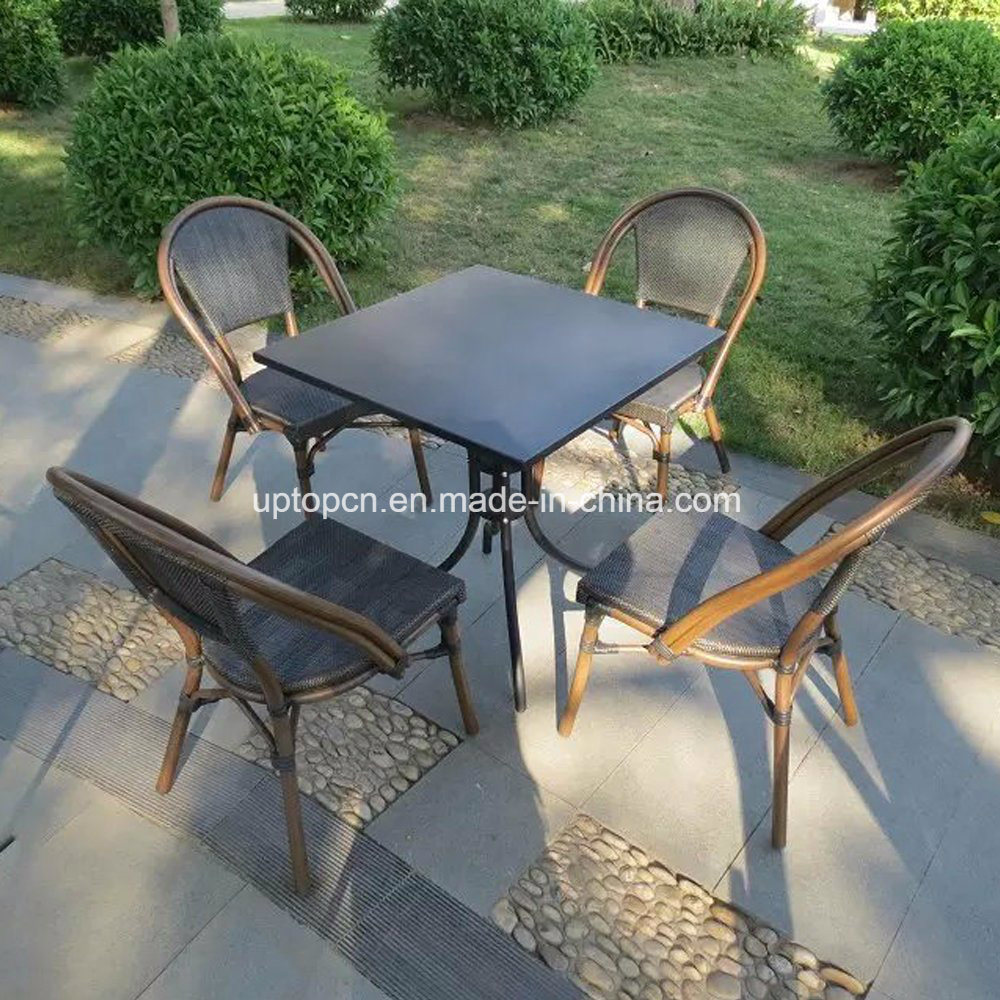 (SP-CT835) Outdoor Cafe Rattan Bistro Table and Chair Dining for Sale