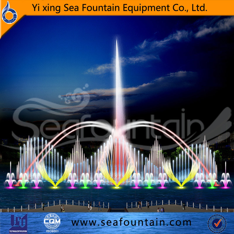 Outdoor Color Changing Floating Music Fountain