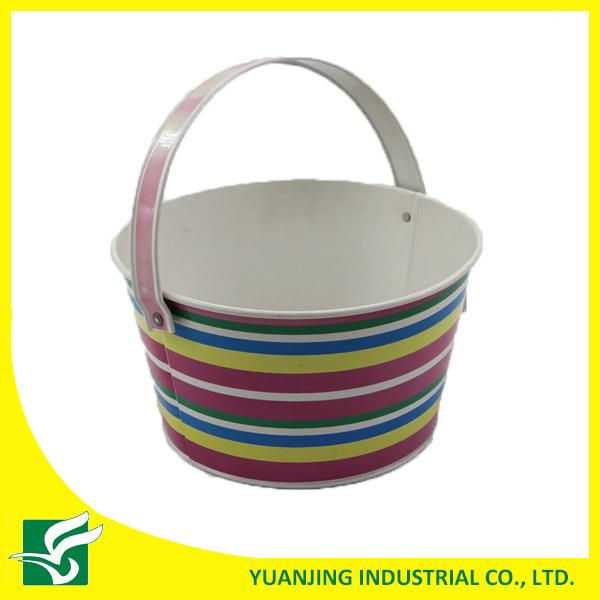Multi-Function Strip Metal Bucket for Home Garden
