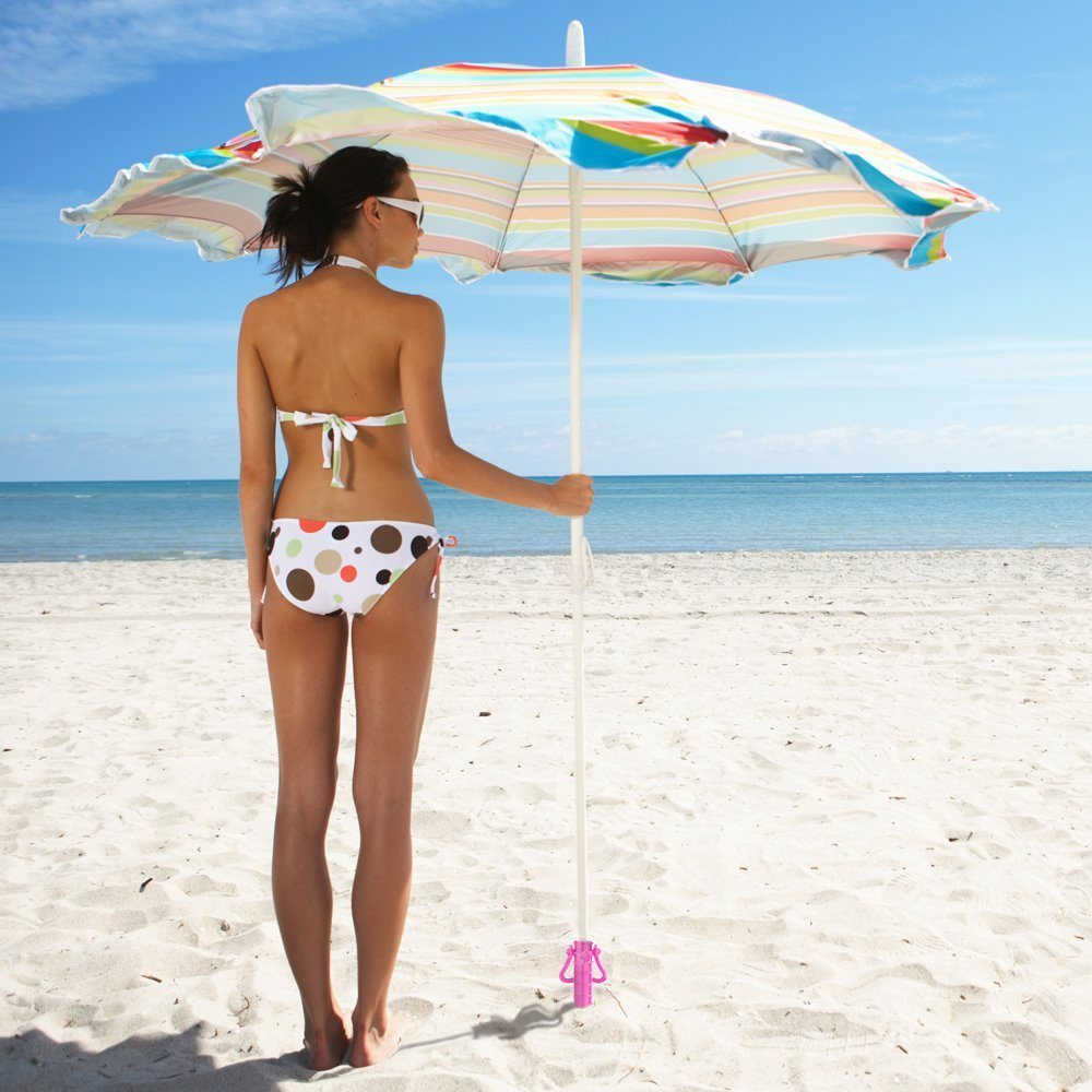 Plastic Beach Umbrella Sand Anchor, for Thin Umbrellas