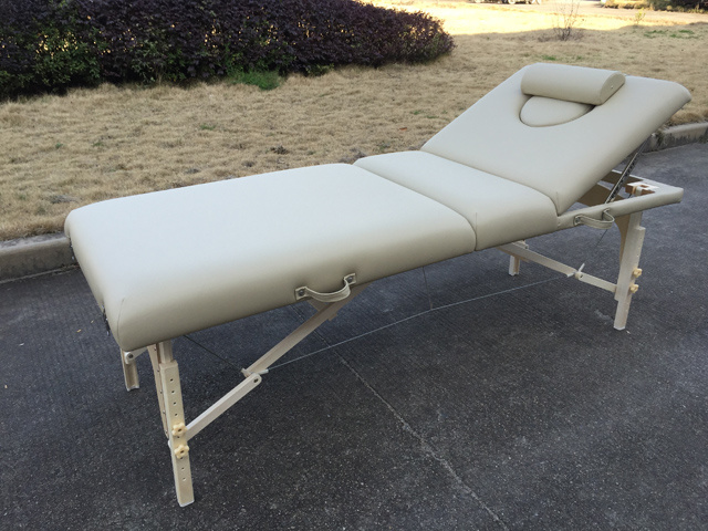 White Beech Portable Massage Table with Adjustable Backrest Mt-009-2W