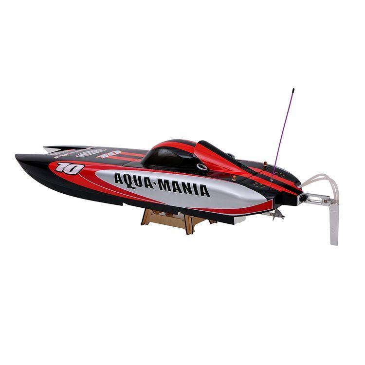225bl075ap-Original Aqua Mania 1300bp (A) 60km-H High Speed RTR Electric Fiberglass RC Boat with 2.4G Pistol Transmitter