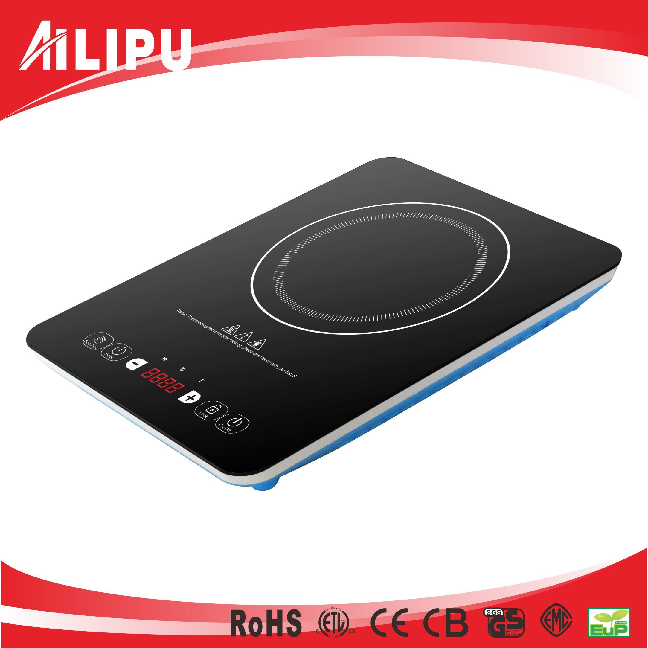 Plastic Housing Tabletop Style Household Induction Cooker