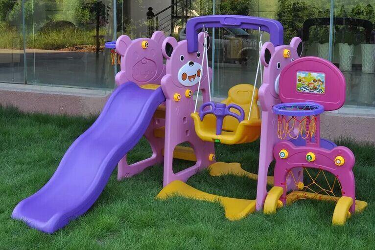 Kids Indoor Playhouse with Slide Children′s Play Equipment Indoor Playground