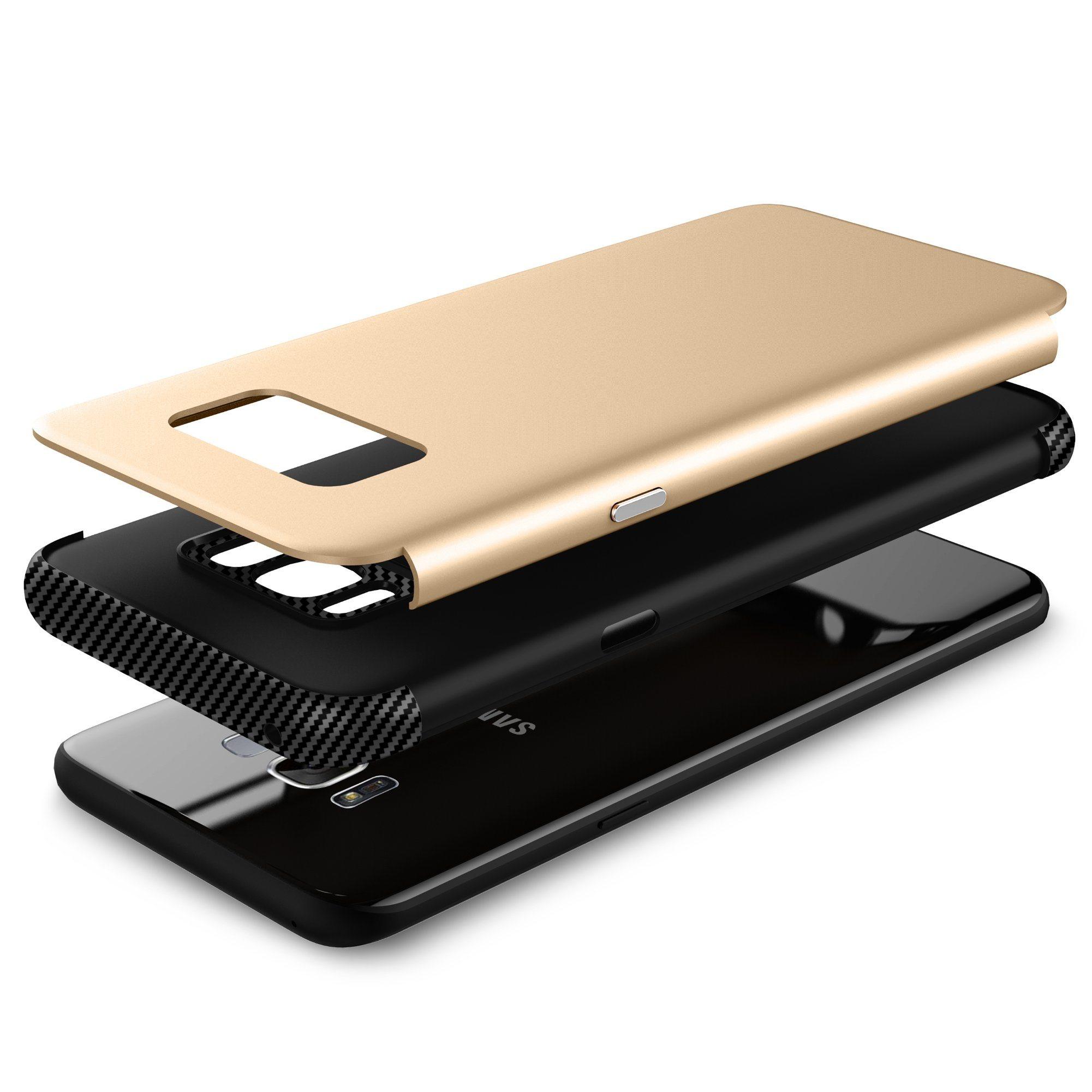 TPU+PC 2 In1 Carbon Fiber Phone Case for Samsung S8 Plus