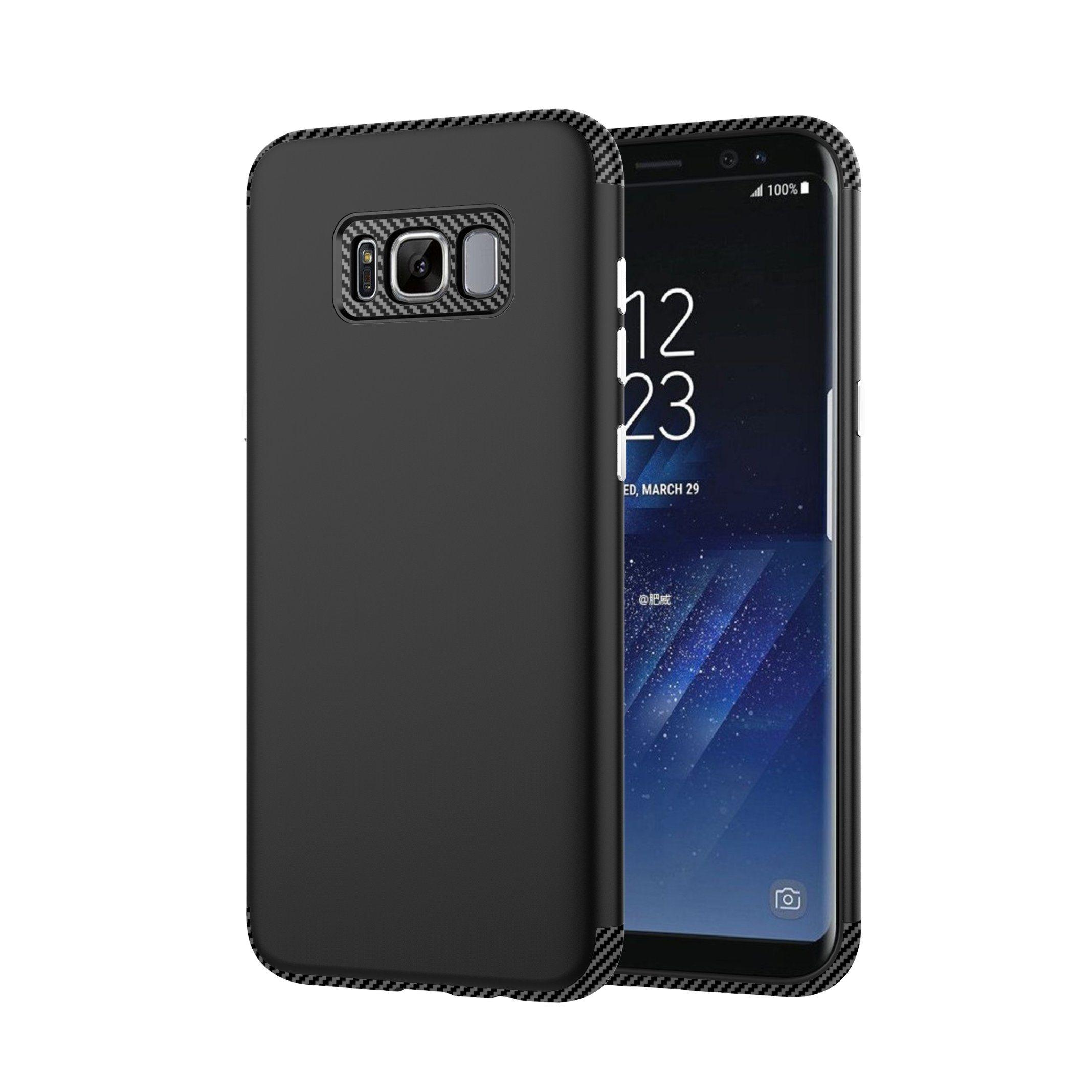 Samsung S8 Plus TPU+PC 2 In1 Carbon Fiber Phone Case