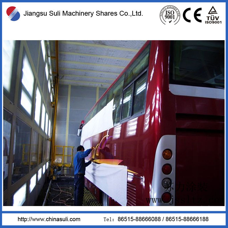 China Suli Shares Automatic Bus Powder Coating Production Line