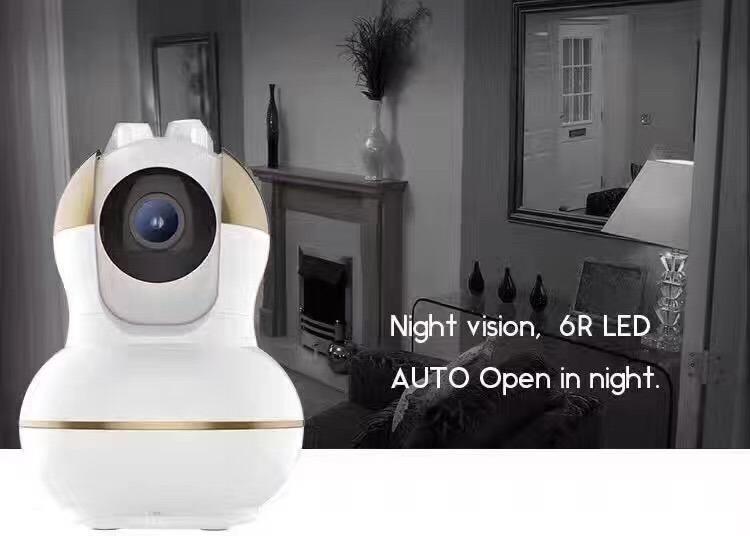 Wireless IP WiFi Camera Alalrm System with PIR Sensor Smoke Detector Window/Door Sensor Home Alarm System