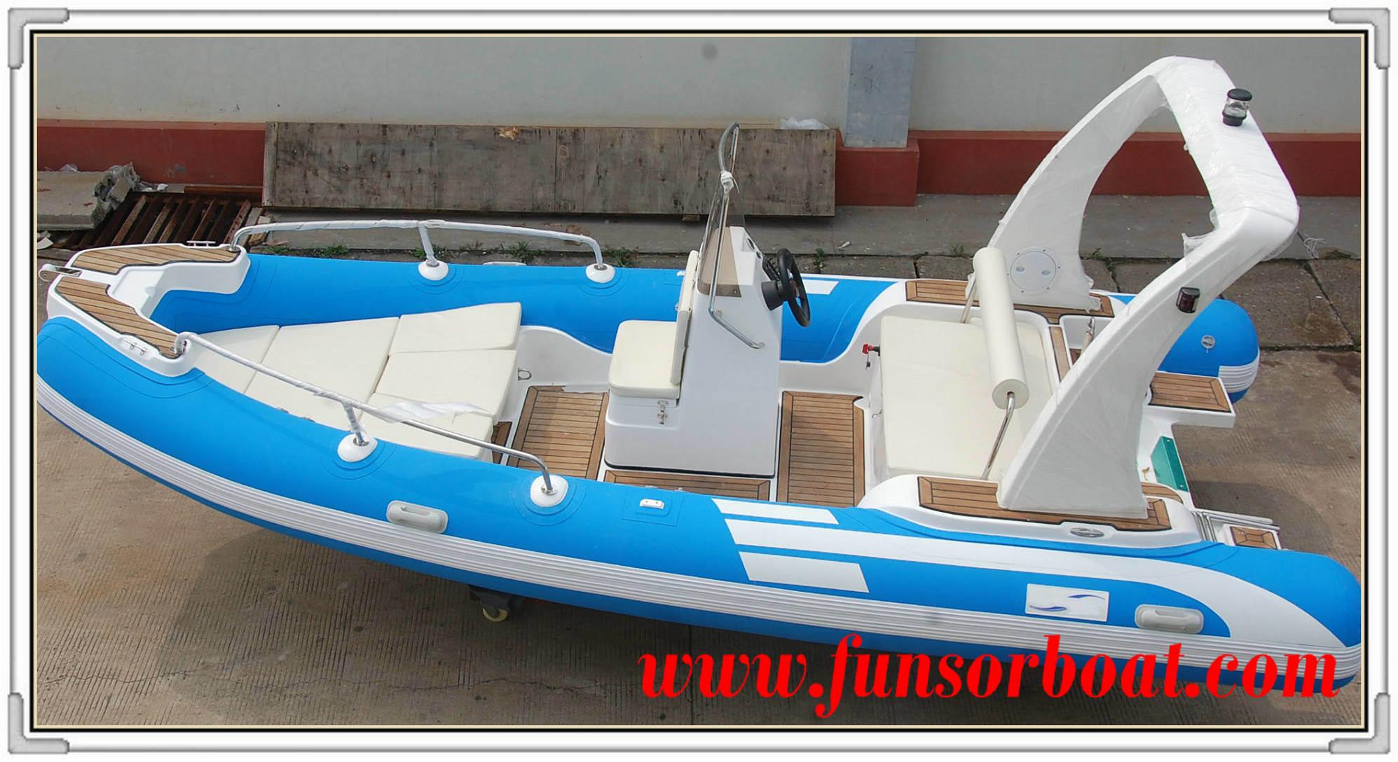 Funsor Inflatable Rib Fishing Boat with EU Ce (FQB-R550)