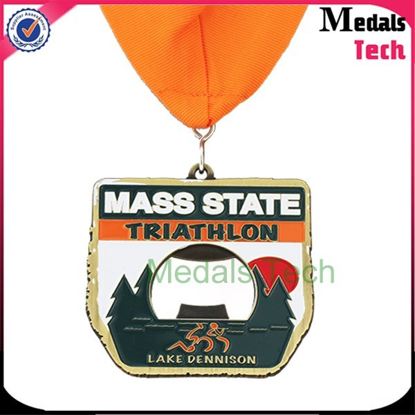 Souvenir Customized Metal 3D Runing Sport Medal with Turkey Shapeals