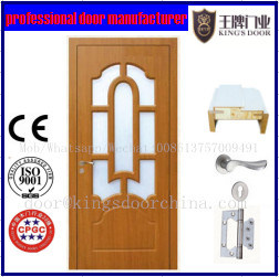 Bathroom Latest Design MDF Wood Decorative Panel Door
