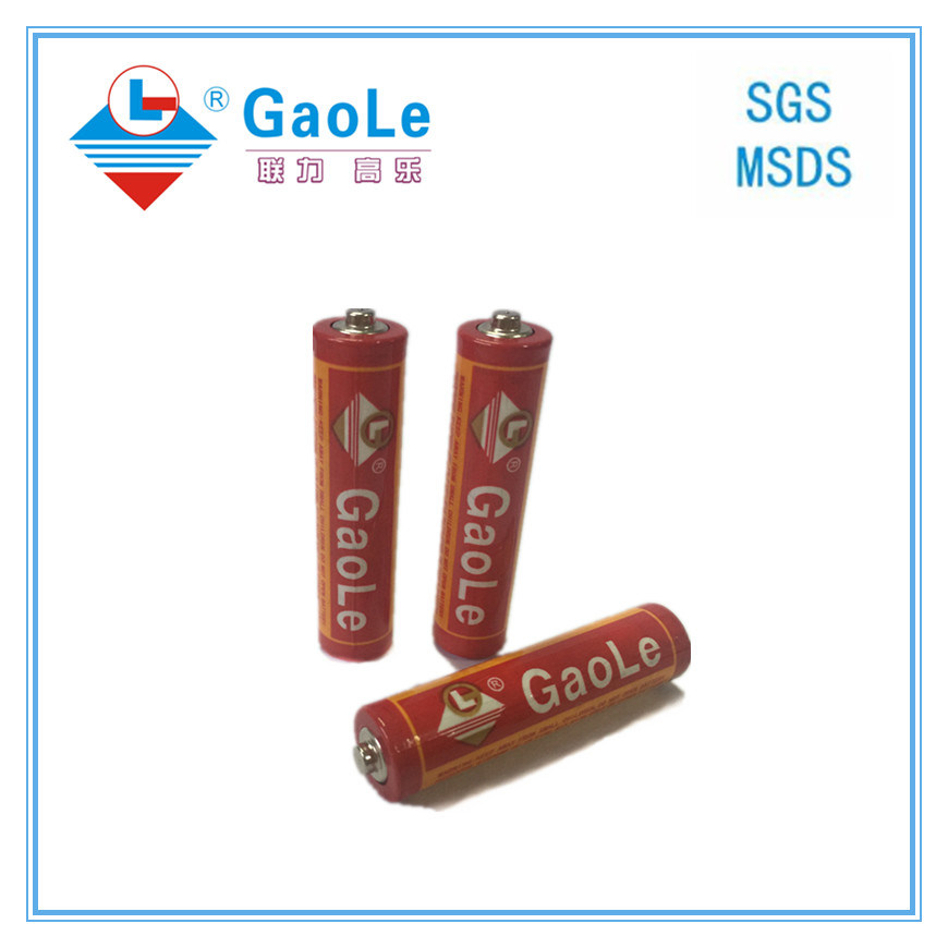 Chinese Battery Manufacture Um4 AAA Primary Battery (red-3PCS pack)