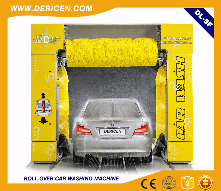 Dericen Dl5 Rollover Automatic Car Wash Machine Price with 5 Brushes Type