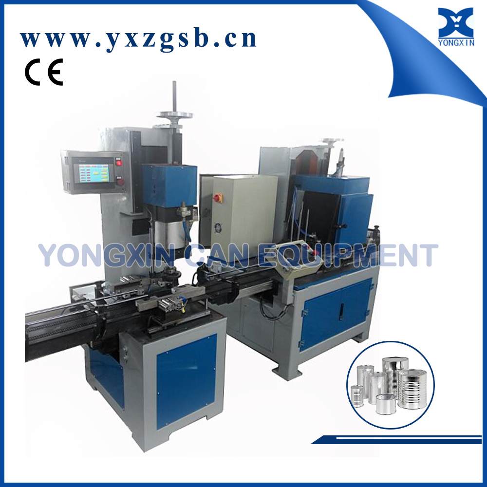Fully Automatic Round Tinplate Metal Can Container Making Machine Equipment