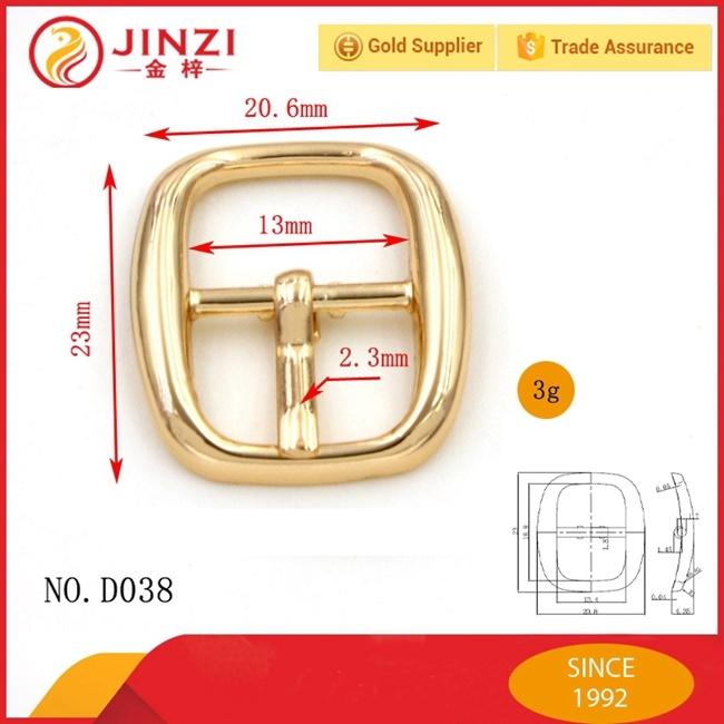 Jinzi Bag Accessories Custom Metal Pin Belt Buckles