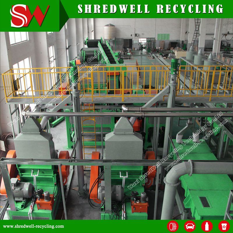 Used Tire Recycling Plant for Making Rubber Crumb