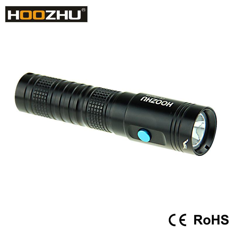 Hoozhu U10 Mini LED Flashlight 80 Meters Scuba Mini Diving Flashlight Diving Rechargeable Flashlight