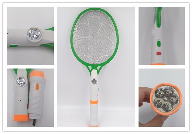 High Quality Durable Electronic Inect Racket, Mosquito Killer Bat with Separable LED Torch