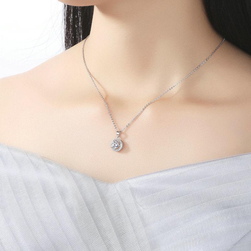 Brass Round Pendants Necklace Women Fashion Jewelry Necklaces