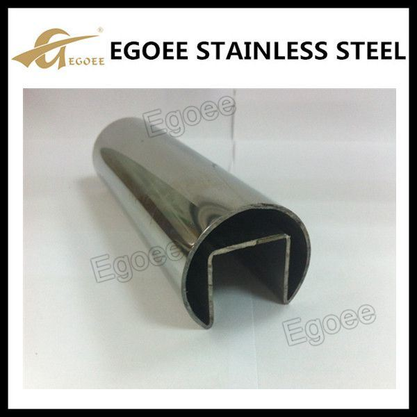 Stainless Steel Slot Tube U Channel for Framless Glass Balustrade