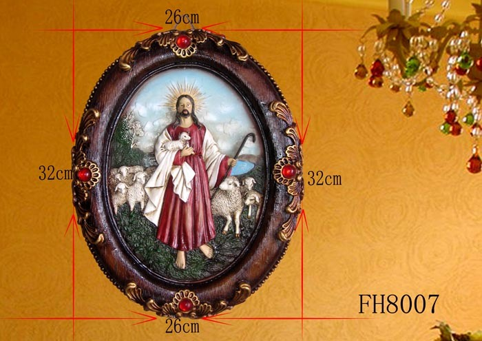 Antique Religious Wall Plaque for Christmas Decoration