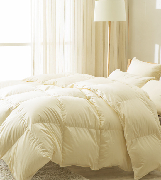Super Silk Cover 100% White Goose Down Duvet for Home