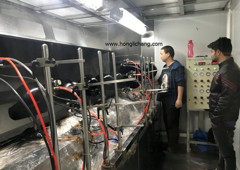 Turnkey Automatic PU Clear Coat Helmet Spray Coating Paint Line