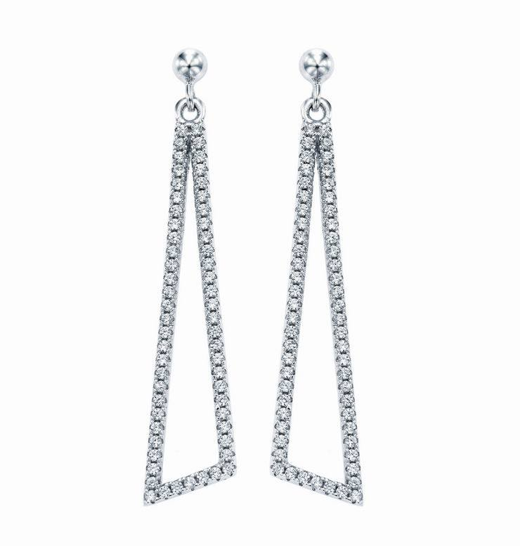 Hot 925 Sterling Silver Earring Jewelry, with Cubic Zirconia (KE3126)