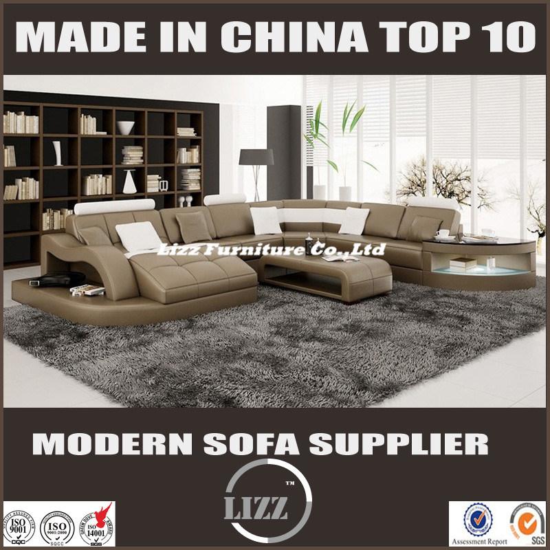 2017 New U Shape Living Room Furniture Sofa Bed (LZ 2217)