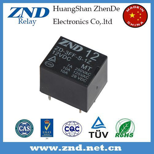 3FF (T73) Cooper Contact Electromagnetic Power Relay 7A 12V Mt 1z